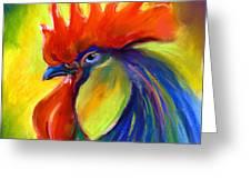 Rooster Painting Greeting Card by Svetlana Novikova