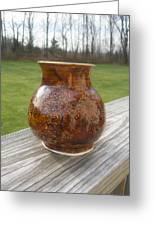Root Beer Vase Greeting Card by Monika Hood