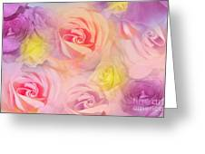 Rose Bouquet Greeting Card by Cindy Lee Longhini