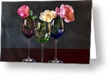 Rose Colored Glasses Greeting Card by Peter Chilelli