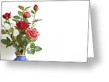 Roses Bouquet Greeting Card by Carlos Caetano
