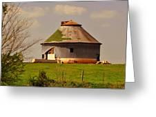 Round Barn Greeting Card by Marty Koch