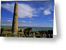 Round Tower, Ardmore, Co Waterford Greeting Card by The Irish Image Collection