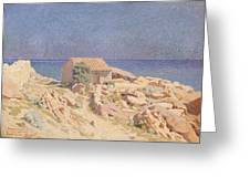 Roussillon Landscape Greeting Card by Georges Daniel de Monfreid