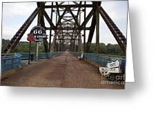 Route 66 Bridge, 2009 Greeting Card by Granger