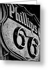 Route 66 Sign Black And White Greeting Card by Hideaki Sakurai