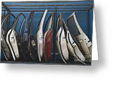 Row Of Dismantled Car Doors Greeting Card by Noam Armonn