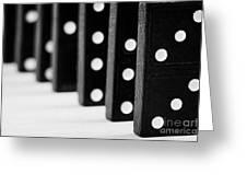 Row Of Dominoes Greeting Card by Joe Fox