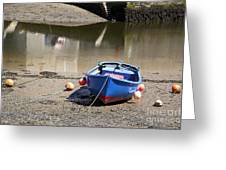 Rowing Boat Greeting Card by Jane Rix