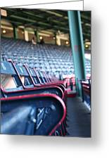Rows Of Empty Field Box Seats At Fenway Boston Greeting Card by Loud Waterfall Photography Chelsea Sullens