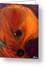 Roxie's New Portrait Greeting Card by Laura  Grisham