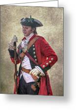 Royal Americans Officer Portrait  Greeting Card by Randy Steele