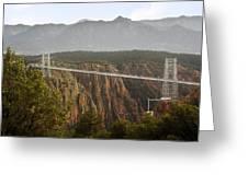 Royal Gorge Bridge Colorado - The World's Highest Suspension Bridge Greeting Card by Christine Till