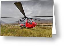 Royal Navy Sar Sea King Xz920 Glencoe Greeting Card by Gary Eason