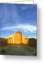 Ruins Of Shivta Byzantine Church Greeting Card by Nir Ben-Yosef