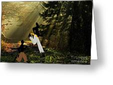 Runaway Slaves Greeting Card by Belinda Threeths