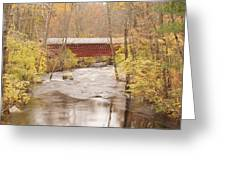 Rural Bridge Greeting Card by Tristan Bosworth