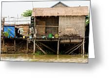 Rural Houses in Cambodia Greeting Card by Artur Bogacki
