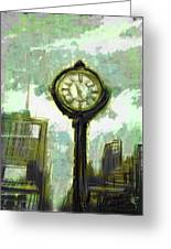 Rush Hour Nyc Greeting Card by Russell Pierce