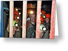 Russian Miners Greeting Card by Ria Novosti