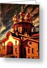 Russian Wooden Church II Greeting Card by Gennadiy Golovskoy
