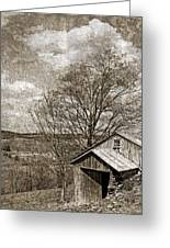 Rustic Hillside Barn Greeting Card by John Stephens