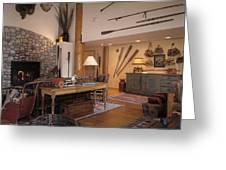 Rustic Lodge Greeting Card by Robert Pisano