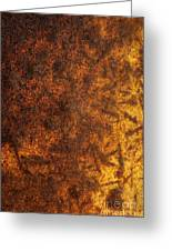 Rusty Background Greeting Card by Carlos Caetano