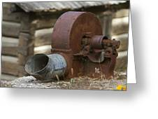 Rusty Blower Greeting Card by JoJo Photography