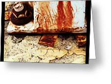 Rusty Bolt Abstraction Greeting Card by Anna Villarreal Garbis