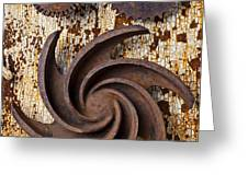 Rusty Gears Greeting Card by Garry Gay