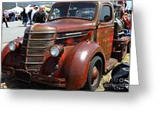 Rusty Old 1935 International Truck . 7d15497 Greeting Card by Wingsdomain Art and Photography