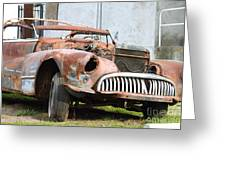 Rusty Old American Car . 7d10347 Greeting Card by Wingsdomain Art and Photography