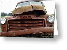 Rusty Old Gmc Truck . 7d8396 Greeting Card by Wingsdomain Art and Photography