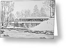 Saco River Bridge Greeting Card by Tim Murray