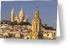 Sacre Coeur Greeting Card by Brian Jannsen