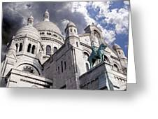 Sacre-coeur Greeting Card by Rod Jones