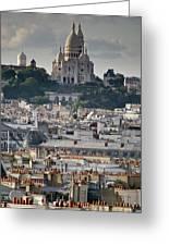 Sacre Coeur Rooftops Greeting Card by Gary Eason