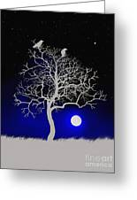 Sacred Raven Tree Greeting Card by Robert Foster