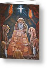 Sacred Tradition Greeting Card by Judy Via-Wolff