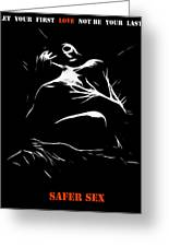 Safer Sex Greeting Card by Stefan Kuhn