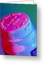 Safety Cap On A Medicine Bottle Greeting Card by Steve Horrell