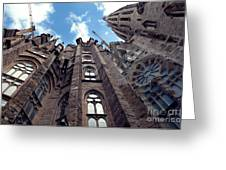 Sagrada Familia In Barcelona Greeting Card by Design Remix