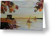 Sail Away Greeting Card by Terry Honstead