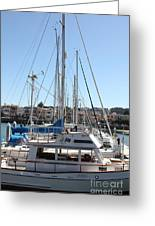 Sail Boats At The San Francisco Marina - 5d18189 Greeting Card by Wingsdomain Art and Photography