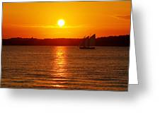 Sail Off Into The Sunset Greeting Card by Andrew Pacheco