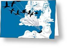 Sailing Cloud Nine Greeting Card by Laura Brightwood