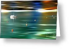 Sailing Greeting Card by Hannes Cmarits