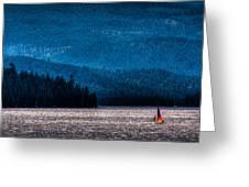 Sailing Priest Lake Greeting Card by David Patterson