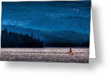 Sailing Priest Lake Greeting Card by David Patterson